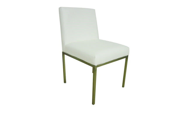 Aqua Dining Chair-PU Leather White - Set of 2