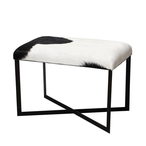 Anouk Black Goat Stool