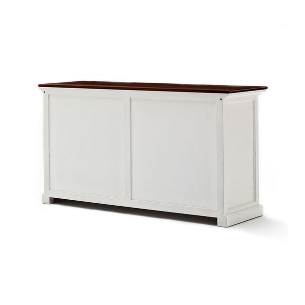 Hamptons Style Buffet with 4 doors and 2 drawers - Woodgrain Top