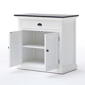 Hamptons Small Sideboard with Contrast Black Top