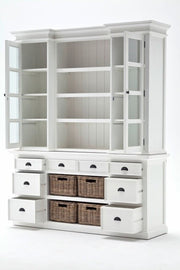 Hamptons Style Buffet & Hutch with Drawers and Cupboards