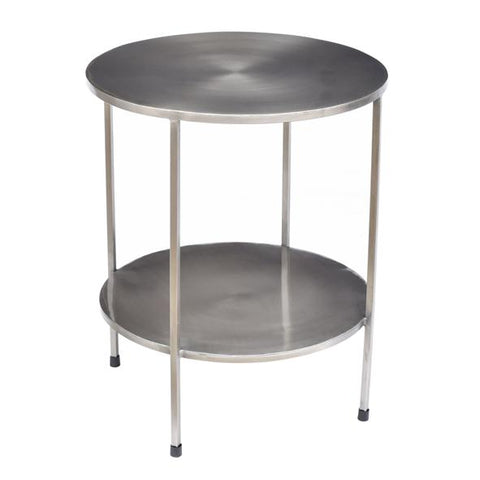 Benny - Silver Metal Side Table