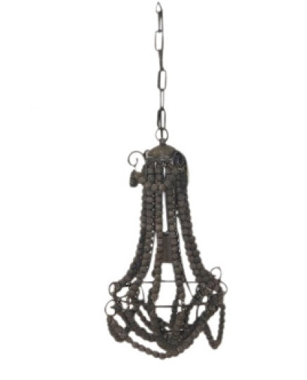 Ball Chandelier - Wire & Black - Small