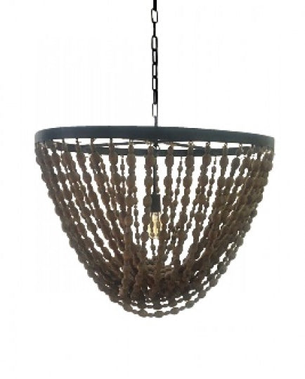 Wooden Deco Style Large Chandelier