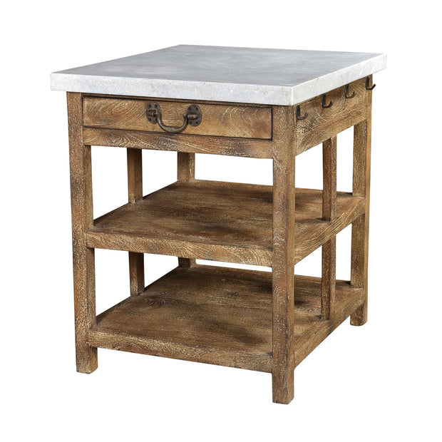 Kitchen Island with Marble Top - Small