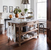 Kitchen Island with Marble Top - Large