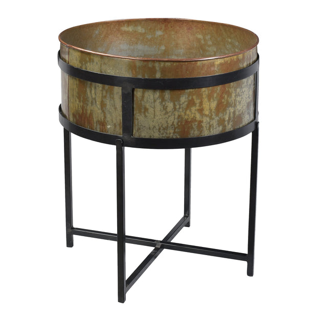 Iron Planter or Cooler on Stand