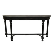 Black Console Table with Curved Top