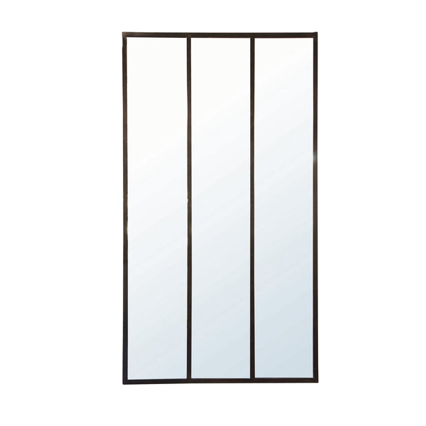 Luca 3 Panel Iron Wall Mirror