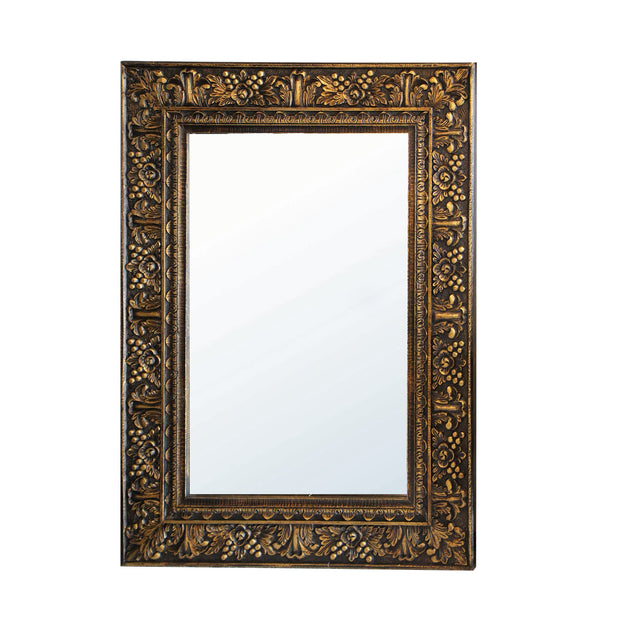 Ada Carved Gold Wall Mirror