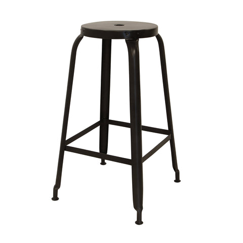 Industrial Iron Barstool - Black - Setof 2