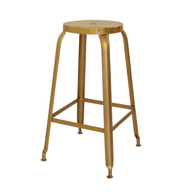 Industrial Iron Barstool - Gold - Setof 2