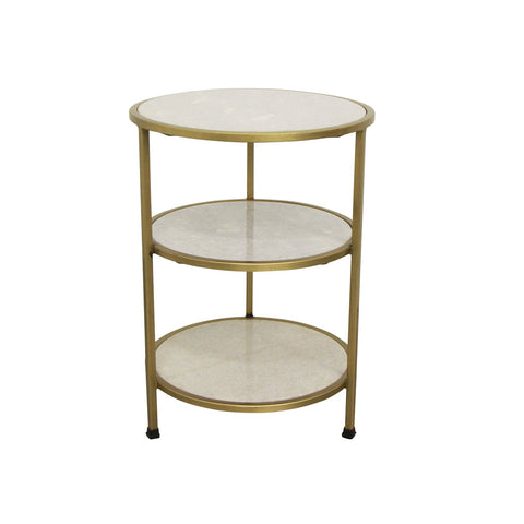 3 Tier Round Marble Side Table