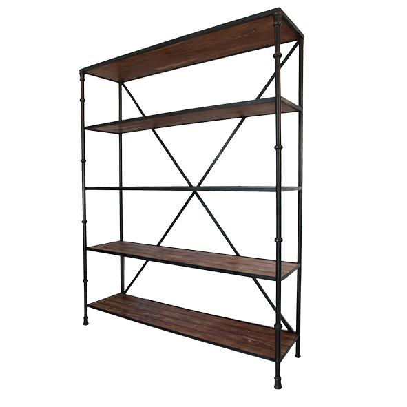 Heston Large Wood & Metal Bookshelf
