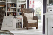 King Chair with seat & back cushions