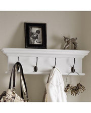 4-Hook Coat Hanger Unit - White