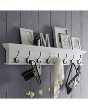 8-Hook Coat Rack Unit - White