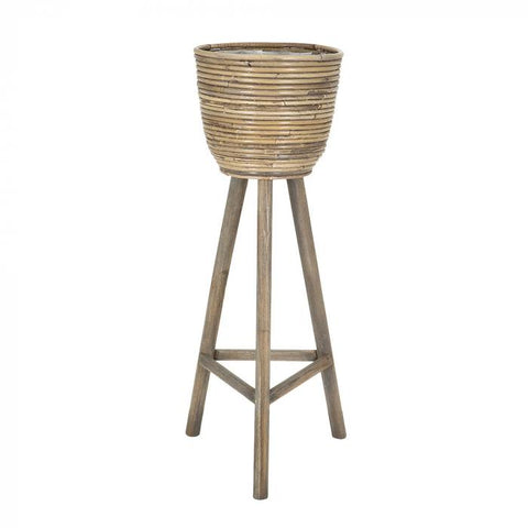 Set of 2 Standing Baskets on Legs