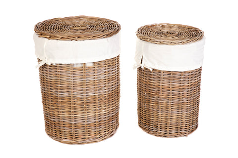 Laundry Basket with Lining - Set of 2