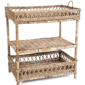3 Tier Rack Tray Rattan