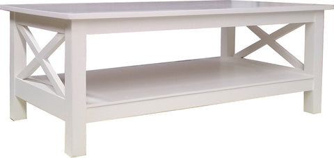 Cross Rectangle Coffee Table White