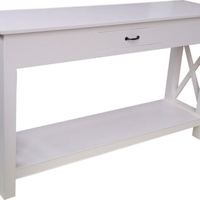 Cross Console Table with Drawer
