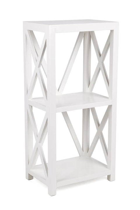 Cross Bookcase White - Small
