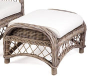 Olympia Rattan Chair & Footstool  - White, Grey Wash or Kubu Grey