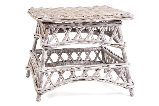 Olympia Rattan Rectangle Coffee Table or Side Table - White, Grey Wash or Kubu Grey