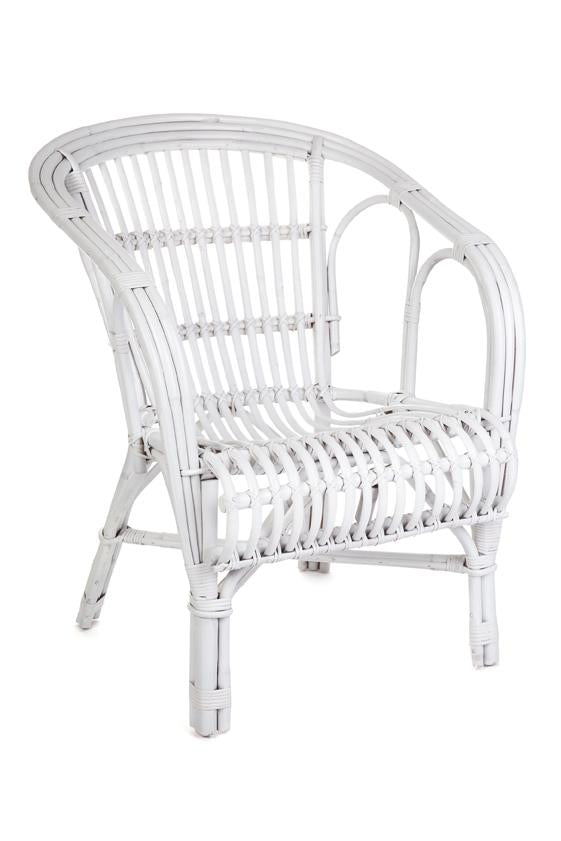 NZ Lounger Chair + Table Solid White
