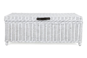 Rattan Trunk/Coffee Table  - Solid White
