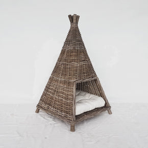 Pet Basket Tepee with cushion