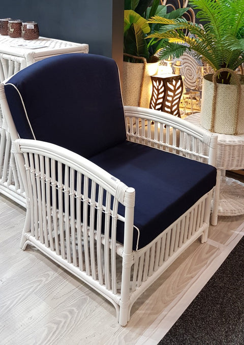 Emporium Chair with Blue Cushion