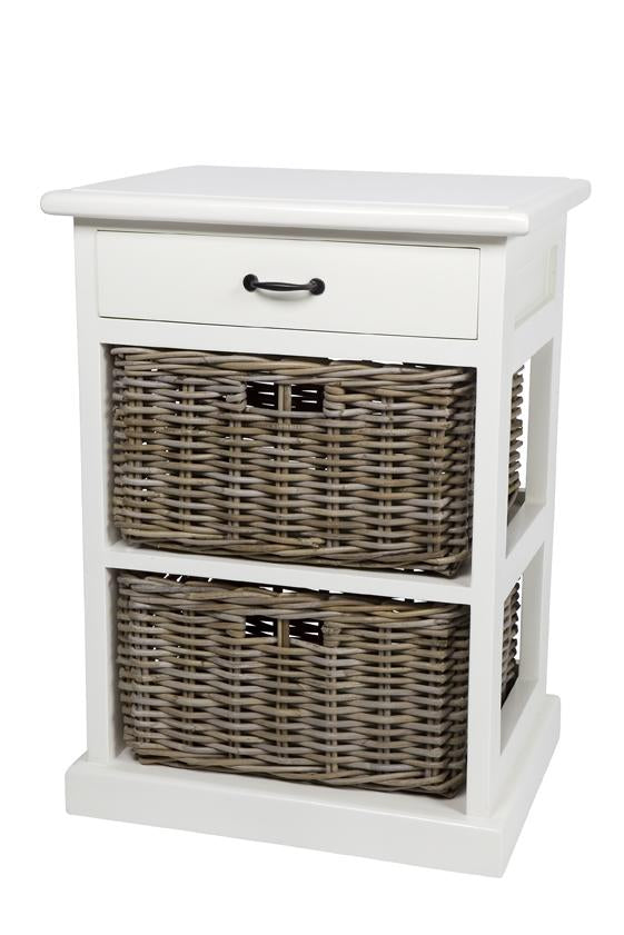 Hamptons Style Furniture with 2 Basket Storage