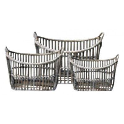 Set of 3 Rattan Laundry or Storage Baskets
