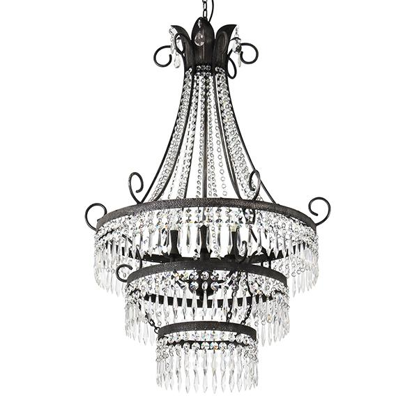 Diana 6 Light Cut Glass Chandelier