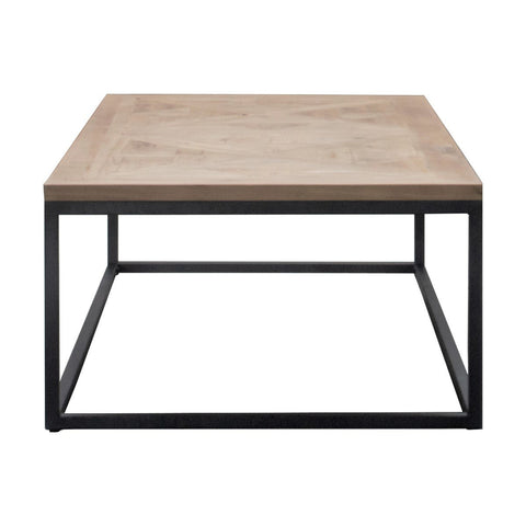 Industrial Timber & Iron Coffee Table - 1250mm