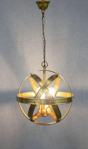 Clan William Hanging Lamp Antique Brass