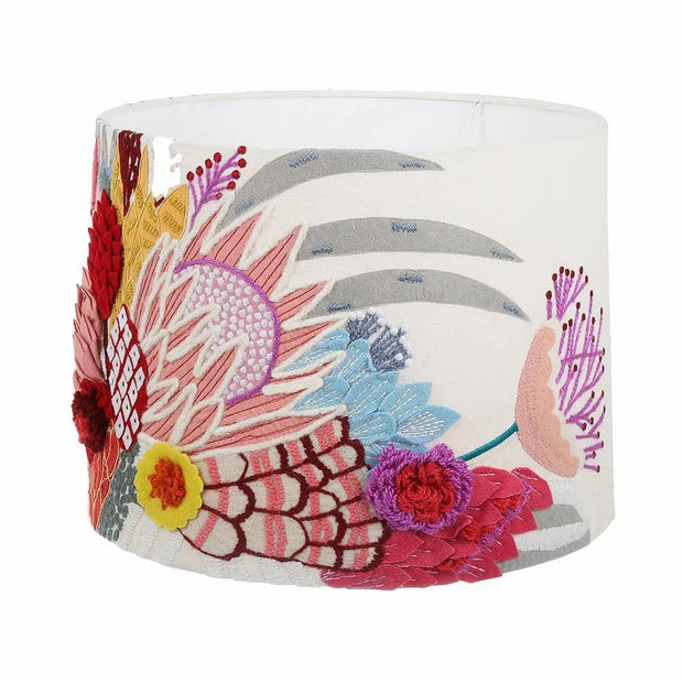 Embroidered Floral Lampshade