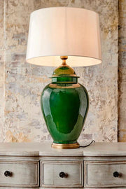 Fine Cotton Table Lamp Base - Emerald