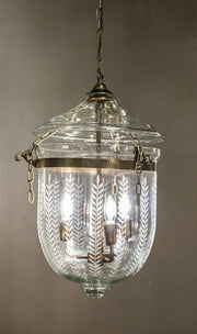 Belljar Brass Leaf Cut Lamp - Small