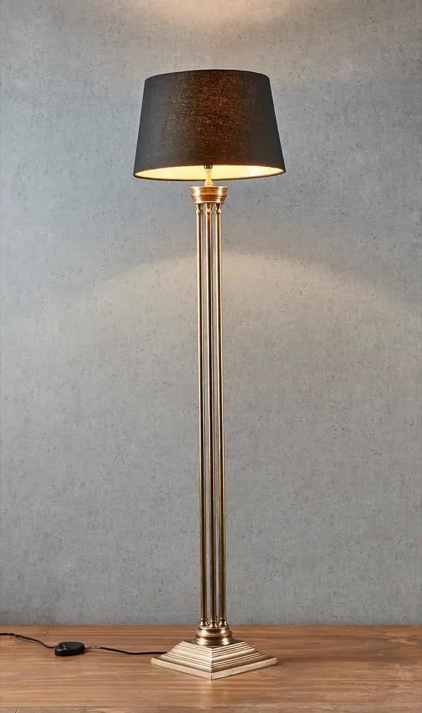 Hudson Floor Lamp Base - Brass