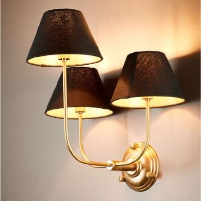 Trilogy 3 Arm Wall Lamp - Base Only - Brass