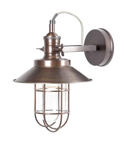 Maine Caged Wall Light - Bronze