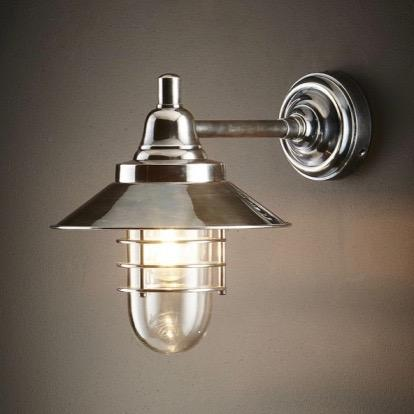 Clark Wall Lamp - Silver or Brass