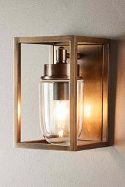 Outdoor Wellington Wall Lamp -  Brass
