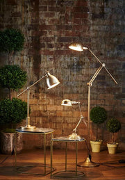 Calais Floor Lamp Antique Brass