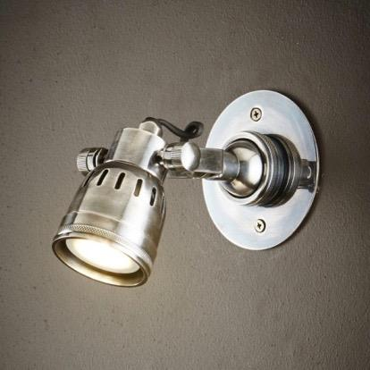Seattle Short Arm Wall Light - Antique Silver