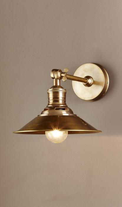 Bristol Wall Sconce - Antique Brass - Allissias Attic & Vintage French Style