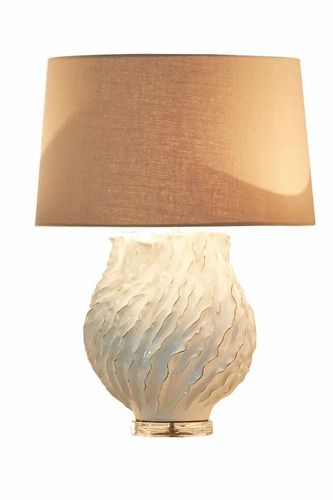 Sandy Bay - Cream - Glazed Textured Ceramic Table Lamp Base Only